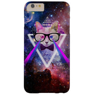 Hipster galaxy cat barely there iPhone 6 plus case