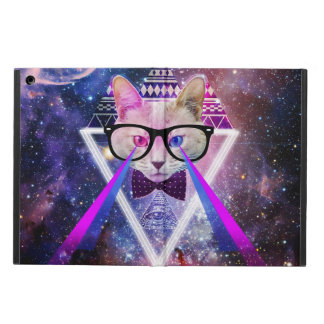 Hipster galaxy cat iPad air cover