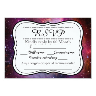 Hipster galaxy outer space RSVP 9 Cm X 13 Cm Invitation Card