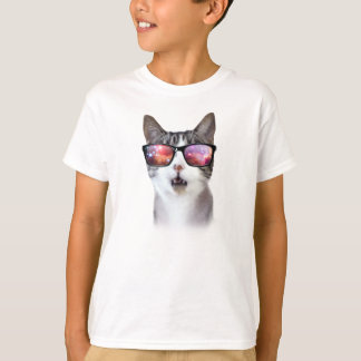 Hipster Galaxy Space Cats LOL Kids' Shirts