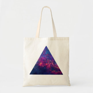 Hipster Galaxy / Space Triangle Tote Bag