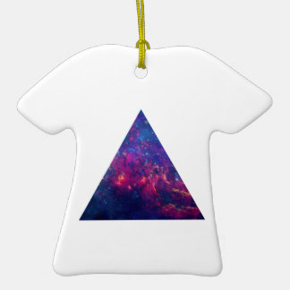 Hipster Galaxy Triangle Tee Shirt Ornament