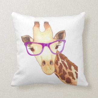 Hipster Giraffe Pillow