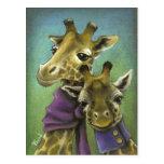 Hipster giraffes postcards