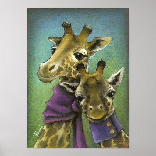Hipster giraffes poster