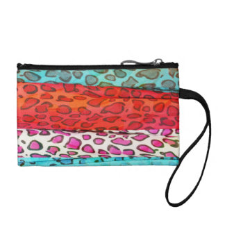 Hipster girly  abstract animal print pattern coin purses