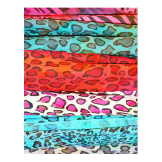 "Hipster girly  abstract animal print pattern 8.5"" x 11"" flyer"