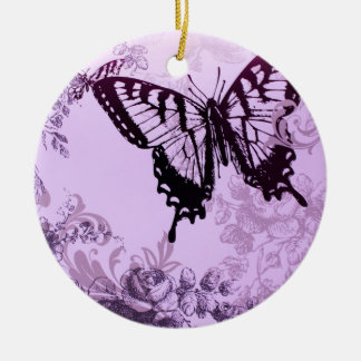 hipster girly boho chic butterfly christmas ornament