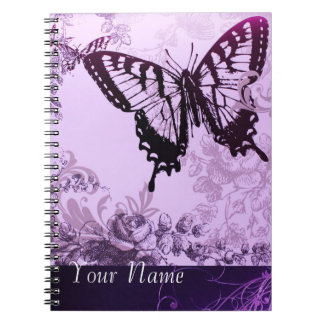 hipster girly boho chic butterfly notebook