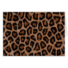 Hipster Girly Brown Black Leopard  Animal Print Card