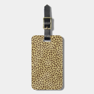 Hipster girly Cheetah Animal Print Pattern Luggage Tag