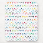 Hipster Glasses Colourful Pattern Mouse Pad