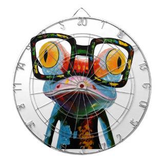 Hipster Glasses Frog Dartboard