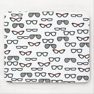 Hipster glasses mouse pad