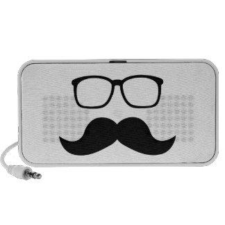 Hipster Glasses Moustache iPhone Speaker