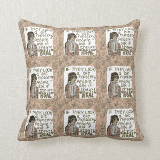 Hipster Glasses Throw Pillow