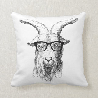 Hipster Goat Cushion