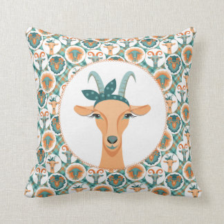 Hipster Goats   by TotallyGoatally™ Cushion