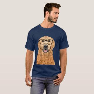 Hipster Golden Retriever T-Shirt