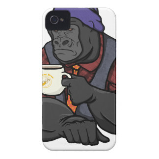 Hipster Gorilla iPhone 4 Case-Mate Cases