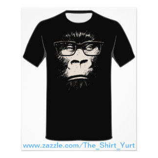 Hipster Gorilla With Glasses Flyers
