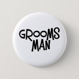 Hipster Groomsman 6 Cm Round Badge