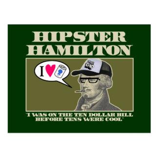 Hipster Hamilton Postcard