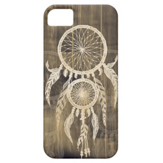 Hipster Happy Dreams Dream Catcher on Native wood Barely There iPhone 5 Case