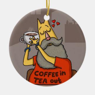 Hipster Hazelnut latte Christmas Ornament