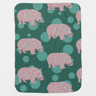 Hipster Hippopotamus Baby Blanket