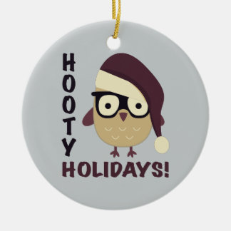 Hipster Hooty Holidays! Christmas Ornament