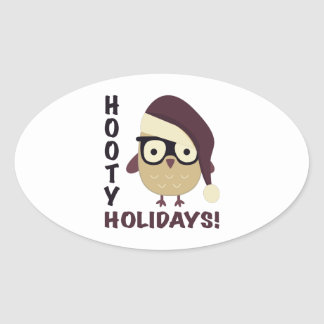 Hipster Hooty Holidays! Stickers
