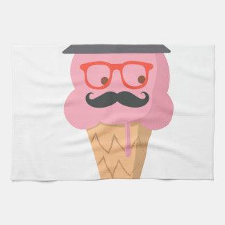 Hipster ice cream tea towel