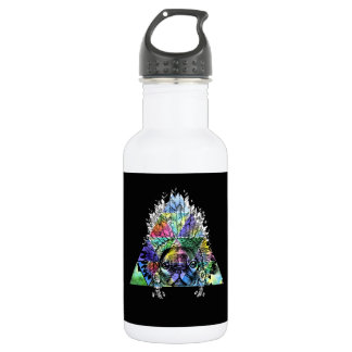 Hipster Indian Pug Dog 532 Ml Water Bottle