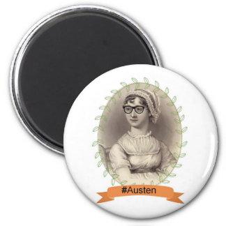 Hipster Jane Austen 6 Cm Round Magnet