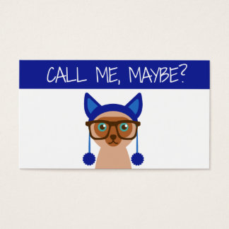 Hipster Kat Creative Blogger Business Card