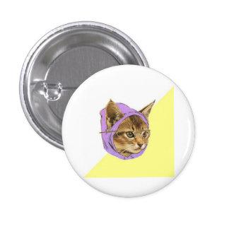 Hipster Kitty Cat Advice Animal Meme 3 Cm Round Badge