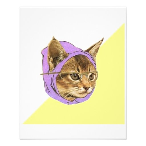Hipster Kitty Cat Advice Animal Meme Flyers
