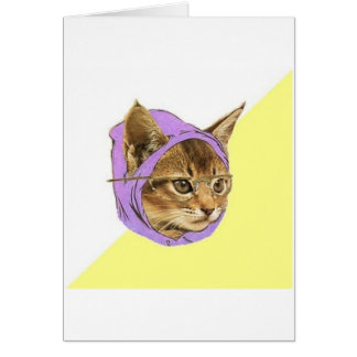 Hipster Kitty Cat Advice Animal Meme Greeting Card