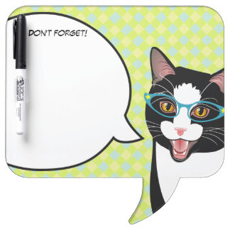 Hipster Kitty Geek Cat Don't Forget! Memo Board