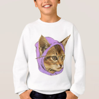 Hipster kitty sweatshirt