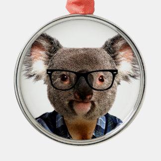 Hipster Koala Christmas Ornament