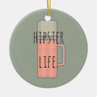 Hipster Life Illustration Design Collection Christmas Ornament