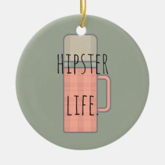 Hipster Life Illustration Design Collection Round Ceramic Decoration