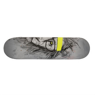 hipster lion 21.6 cm old school skateboard deck