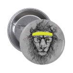 Hipster lion badges