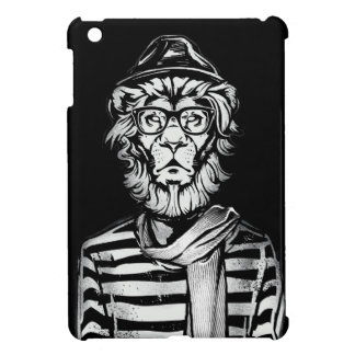 Hipster Lion Black and White Cover For The iPad Mini