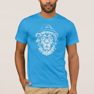 Hipster Lion Blue T-Shirt