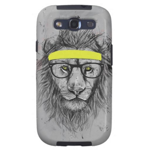 hipster lion galaxy s3 cover