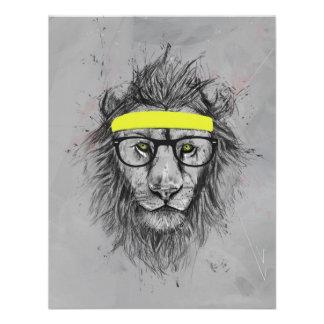 Hipster lion custom invitations